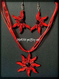 Quilling necklace set 19