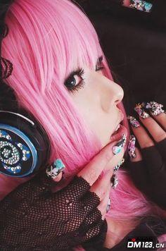 cosplay hair,pink hair