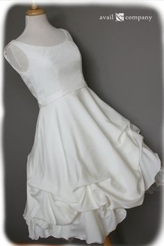 Short Wedding Dress Silk Crepe Georgette Custom Made to by AvailCo