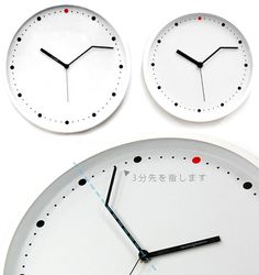 A clock for those who are always late!