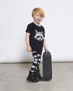 Lucky No 7 - Kids Racoon tee - lifestyle 2