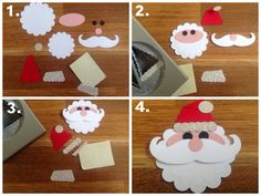 Punch Art Santa for the Curvy Keepsake Gift Box or other Topper. Mikaela…