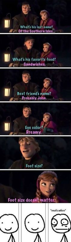 That Moment When You Realize Frozen Had A Joke For Adults