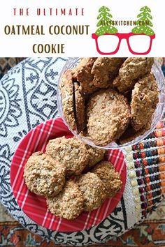 Forget any recipe for cookies with coconut other than this one for oatmeal coconut cookies. #easyoatmealcookie #oatmealcookierecipe Good Healthy Recipes, Sweet Recipes, Healthy Meals, Easy Recipes, Oatmeal Coconut Cookies, Oatmeal Cookie Recipes, Desserts For A Crowd, Easy Desserts, Dessert Recipes