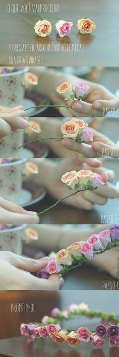 DIY de coroa de flores!