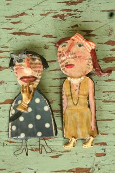 Julie Arkell  is an English artist that works with papier-mache and mixed media.  She create...