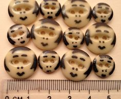 Old china button faces