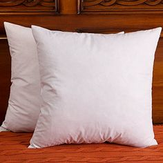 Set of 2 Down and Feather Pillow Insert Cotton Fabric Throw Pillows * Click on the image for additional details.-It is an affiliate link to Amazon. #DecorativePillowsInsertsCovers