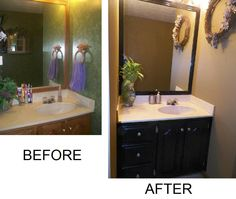 Painted Bathroom Cabinets Before And After gray'ben moore - my painted bathroom vanity before and after