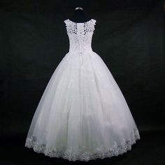 Lace Embroidered Beading Vintage Sweet Straps Wedding Dress Yarn Puff d9268ea80f7
