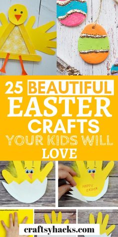 Looking for Easter crafts for your kids to keep them busy and help you decorate? Try these Easter diy decorations with your family and have fun crafting. crafts for teens 25 Beautiful Easter Crafts Your Kids Will Love Easter Crafts For Toddlers, Crafts For Teens To Make, Bunny Crafts, Easter Crafts For Kids, Toddler Crafts, Diy For Kids, Easter Stuff, Easter Ideas, Diy Crafts