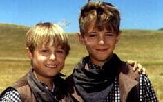 Shawn Toovey and his double on Dr. Quinn Medicine Woman when he played Brian Cooper