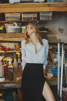Camille Rowe by Guy Aroch for SoIt Goes Magazine #3 S/S 2014