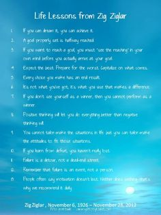 Life Lessons from Zig Ziglar