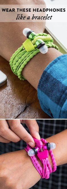 Wear these headphones like a bracelet—people will never suspect with their stealthy design. Their braided texture looks great on and won't tangle. Great gifts for teens.