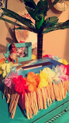 Tiki Hut Card Box Made From A Cardboard Box Painted