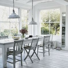nice and light great idea for design layout for scandi chic, modern conservatory, sun room dining room shabby chic with retro contemporary industrial urban elements