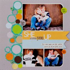 Scrapbook Layout Ideas  Like how it has only one curved edge