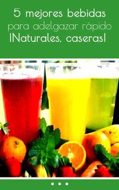 5 mejores bebidas para adelgazar rápido. ¡Naturales, caseras! #bebida #batido #adelgazar #quemargrasa #perderpeso #casero