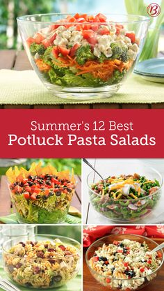 These easy potluck pasta salads are the best sides at any party, guaranteed. With a few ingredients and minimal prep time, bringing a side to the party has never been easier, with these recipes at the ready!