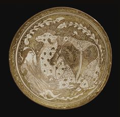 A Kashan Lustre Bowl with a recumbent camel and camel-driver, Persia, Circa 1260 - Sothebys