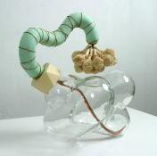 John Newman  Sculpture- Recent Work mold-blown glass, sholapith, copper wire, mutex, sisal, papier maché, styrofoam, japanese paper, acqua r...