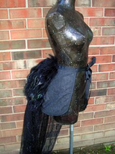 Custom Feather Victorian Bustle With optional Train by crescentwench - Steampunk Steampunk Clothing - Smoked Glass Goggles