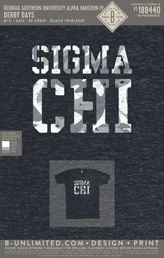 Sigma Chi Derby Days Shirt | Fraternity Event | Greek Event #sigmachi #machi Georgia Southern University, Sigma Chi, Derby Day, Social Events, Fraternity, All Design, Greek, Artwork, Shirts