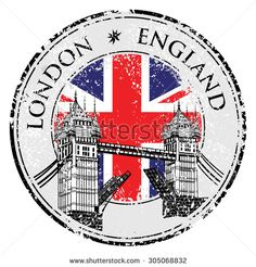 Illustration of Tower Bridge grunge stamp with flag, vector illustration , London vector hand drawn illustration vector art, clipart and stock vectors. Rod Pocket Curtains, Panel Curtains, Curtain Panels, Grunge, Illustration Vector, London Illustration, Vintage Logo, Thinking Day, London Calling