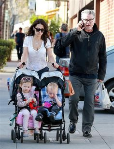 Alec Baldwin headed out for dinner in Beverly Hills with wife Hilaria and their two oldest kids, Carmen and Rafael, on March 3.