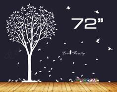 "$27.95 + 8 shipping Wall Decor Decal Sticker vinyl tree 72"" SINGLE COLOR 