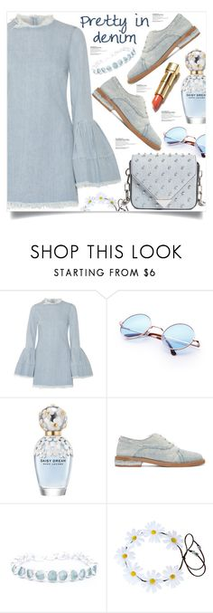 """Pretty in denim"" by poopsie-plopsie ❤ liked on Polyvore featuring Marques'Almeida, Marc Jacobs, MM6 Maison Margiela, Poppy Jewellery and Alexander Wang"