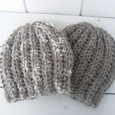 Custom Order for molly950- Two Crocheted Slouch Hats