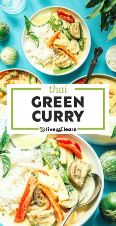 Flavor up your next meal with this Thai Green Curry recipe, the ultimate vegan dish (+ our tips for leveling up store bought curry paste!) Make it for a healthy family dinner that's better than takeout! #thaifood #curry #vegan #vegetarian Thai Green Curry Recipes, Green Curry Sauce, Vegetarian Recipes Dinner, Vegan Vegetarian, Dinner Recipes, Asian Recipes, Healthy Recipes, Healthy Food, Healthy Family Dinners