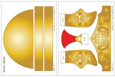 Colored Roman Imperial helmet template