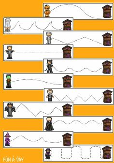 Don't miss these FREE printable fine motor practice strips for Halloween! There are a variety of skills practiced when using these strips to cut, trace, or with manipulatives. Preschoolers practive left-to-right directionality, fine motor skills, visual discrimination, scissor skills, pen/pencil grasp, counting, and more! Early Learning Activities, Motor Activities, Preschool Activities, Halloween Science, Halloween Activities For Kids, Kids Cuts, Multiplication For Kids, Preschool Lesson Plans, Fine Motor Skills