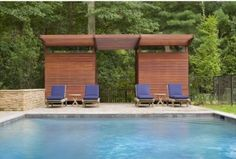 changing room and bathroom in the shade structure at the end of this pool.  new york - Eisner Design LLC