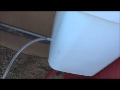 5 Gallon Rabbit Waterer for $5. It\'s a nipple system, so it won\'t get contaminated and prevents mice and rats from coming in. #rabbits #chickens