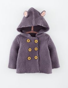 Baby Boden Knitted Jacket in Thistle