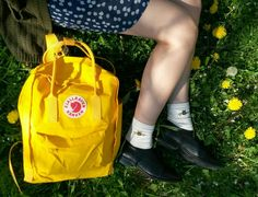 outside for inspiration Bees Knees, Kanken Backpack, Fashion Backpack, Backpacks, Warm, Yellow, Closet, Inspiration, Style