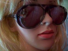 vintage 70s Mod RARE bakelite horn rimmed mirror aviator sunglasses