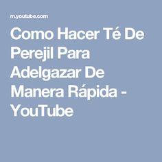 Como Hacer Té De Perejil Para Adelgazar De Manera Rápida - YouTube