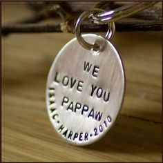 Custom Sterling Silver Handstamped Round by TagYoureItJewelry, $27.00