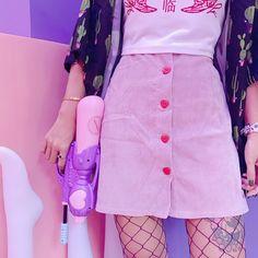 """Black/skin pink tall waist skirt SE10276 Coupon code """"cutekawaii"""" for 10% off"""