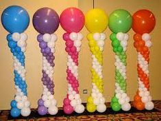 Image result for balloon decoration columns