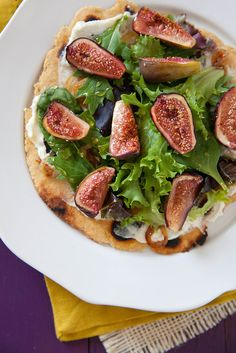 Roasted Fig Flatbreads with Chèvre and Greens | Annie's Eats by annieseats, via Flickr