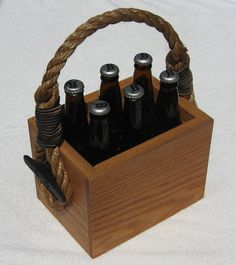 Beer Tote.  Cool little project.  Probably appropriately belongs to a guy who is doing some micro brewing and gifting or selling his wares.  Or a good little make for giving an assortment of your favorites to a buddy.