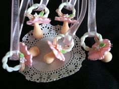 Baby Shower Pacifier Necklace 12 Baby by CakeToppersBoutique