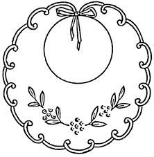Image result for baby bib clipart black and white