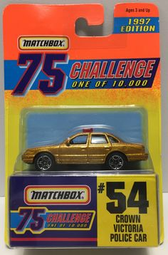 This just in at The Angry Spider Vintage Toy Store: TAS037511 - 1996 ...  Check it out here! http://theangryspider.com/products/tas037511-1996-matchbox-75-die-cast-54-crown-victoria-police-car?utm_campaign=social_autopilot&utm_source=pin&utm_medium=pin